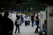 Frankfurt | Germany | 03.08.2014: T&uuml;rkische Pr&auml;sidentenwahl in der Frankfurter Fraport-Arena (Ballsporthalle). Zum ersten Mal in der Geschichte der T&uuml;rkei d&uuml;rfen die in Deutschland lebenden T&uuml;rken w&auml;hlen, ohne daf&uuml;r in die T&uuml;rkei reisen zu m&uuml;ssen. Dazu wurden in sieben deutschen St&auml;dten Stadien und Hallen angemietet.<br /> <br /> hier: <br /> <br /> Sascha Rheker<br /> 20140803<br /> <br /> [Inhaltsveraendernde Manipulation des Fotos nur nach ausdruecklicher Genehmigung des Fotografen. Vereinbarungen ueber Abtretung von Persoenlichkeitsrechten/Model Release der abgebildeten Person/Personen liegt/liegen nicht vor.] [No Model Release | No Property Release]