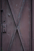 Metal door - close-up