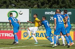 Mustafa Nukić of Bravo vs Tilen Klemenčič of Domzale during football match between NK Bravo and NK Domzale in 6th Round of Prva liga Telekom Slovenije 2019/20, on August 18, 2019 in Sports park ZAK, Ljubljana, Slovenia. Photo by Anze Petkovsek / Sportida