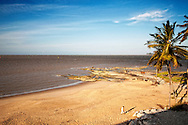 The beach at Hotel des Roches in Kourou, French Guiana