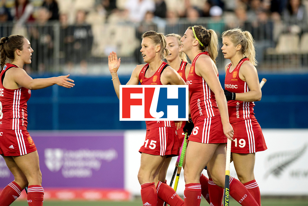 AUCKLAND - Sentinel Hockey World League final women<br /> Match id 10302<br /> ENG v China<br /> Foto:  Alex Danson( C) and Lily Owsley (foto )scored aftewr a assist from Lily.<br /> WORLDSPORTPICS COPYRIGHT FRANK UIJLENBROEK