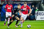 ALKMAAR - 26-10-2016, AZ - FC Emmen, AFAS Stadion, AZ speler Derrick Luckassen, FC Emmen speler Henk Bos, AZ speler Ben Rienstra