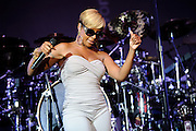 Mary J. Blige perfroming at Lilith Fair 2010 at Verizon Wireless Amphitheater in St. Louis, MO on July 16, 2010