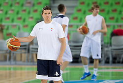 Jaka Lakovic at practice of Slovenia basketball team before opening of the new sports arena in Stozice on August 10, 2010, in Ljubljana, Slovenia.  (Photo by Vid Ponikvar / Sportida)