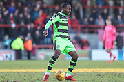 Forest Green Rovers Dale Bennett(2) during the EFL Sky Bet League 2 match between Morecambe and Forest Green Rovers at the Globe Arena, Morecambe, England on 17 February 2018. Picture by Shane Healey.