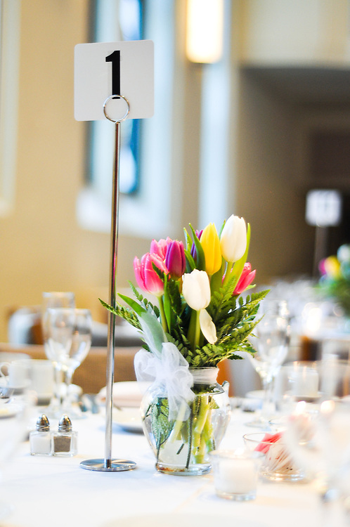 Table setting, Mundelein Center, Loyola University Chicago