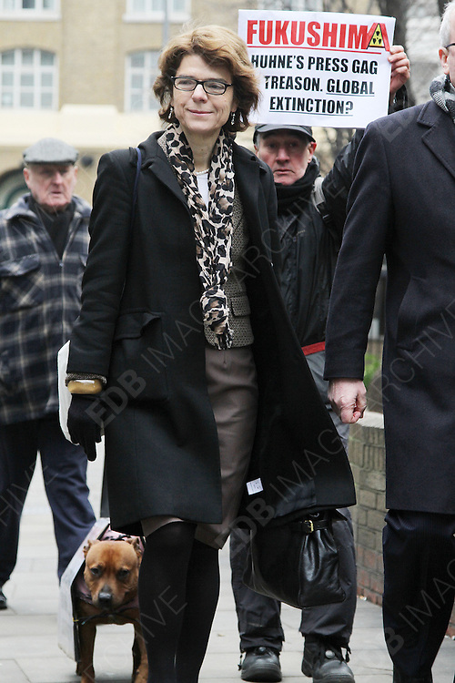 25.JANUARY.2013. LONDON<br /> <br /> VICKY PRYCE ARRIVING AT SOUTHWARK CROWN COURT FOR THE RETRIAL OF HER TAKING HER EX-HUSBAND CHRIS HUHNE'S SPEEDING POINTS A DECADE AGO.<br /> <br /> BYLINE: EDBIMAGEARCHIVE.CO.UK<br /> <br /> *THIS IMAGE IS STRICTLY FOR UK NEWSPAPERS AND MAGAZINES ONLY*<br /> *FOR WORLD WIDE SALES AND WEB USE PLEASE CONTACT EDBIMAGEARCHIVE - 0208 954 5968*