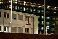 14 JUN 2010, BERLIN/GERMANY:<br /> Kameras sichern die Baustelle fuer den Neubau des Bundesnachrichtendienstes, BND, Chausseestrasse<br /> IMAGE: 20100614-02-016