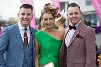 03/08/2017   Repro free At the g Hotel Best Dresed competetion was Gretta Peters from Tipperary with Repro free: Mike McCarthy and Paul Carroll funky fashion frolics at the g Hotel Best dressed competition at the Galway Races. Photo:Andrew Downes. . Photo: Andrew Downes, xposure
