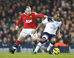 16.01.2011, White Hart Lane, Lundon, ENG, PL, Tottenham Hotspur vs Manchester United, im Bild Tottenham's Wilson Palacios holds of Wayne Rooney of Manchester United.Barclays Premier League.Tottenham Hotspur v Manchester United.at White Hart Lane, London 16/01/2011. EXPA Pictures © 2011, PhotoCredit: EXPA/ IPS/ Kieran Galvin +++++ ATTENTION - OUT OF ENGLAND/UK and FRANCE/FR +++++