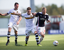 Dumbarton's Jordan Kilpatrick and Falkirk's Craig Sibbald.<br /> half time : Falkirk 1v 0 Dumbarton, Scottish Championship game played 20/9/2014 at The Falkirk Stadium .