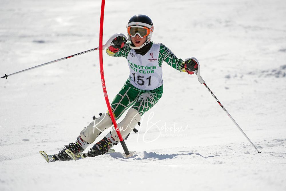 Piche Invitational Slalom 2nd run Sunday, March 17, 2013.  Karen Bobotas Photographer