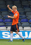 Picture by David Horn/Focus Images Ltd +44 7545 970036<br /> 03/08/2013<br /> Mark Cullen of Luton Town celebrates scoring his side's second goal to make it 2-0 during the Friendly match at Kenilworth Road, Luton.