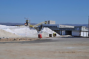 Israel, Coastal Plains, Atlit, Israel Salt Company est. 1922 produces salt from the Mediterranean sea