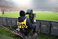 Milan-Lazio - Serie A 22a giornata - Nella foto : Una telecamera televisiva a bordo campo allo stadio Meazza San Siro di Milano