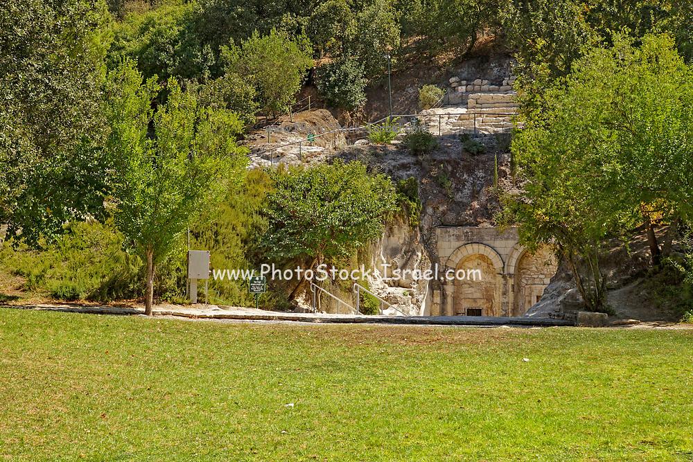 Israel, Beit Shearim, the entrance to Rabbi Yehuda Hanasi's catacomb.