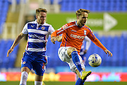 Chris Gunter and Andrew Shinnie during the Sky Bet Championship match between Reading and Birmingham City at the Madejski Stadium, Reading, England on 22 April 2015. Photo by Adam Rivers.