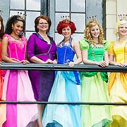 NLD/Baarn/20140423 - Perspresentatie Prinsessia, cast, Desiree Viola, Helle Vanderheyden, Sylvia Boone, Jolijn Henneman en Fauve Celeste