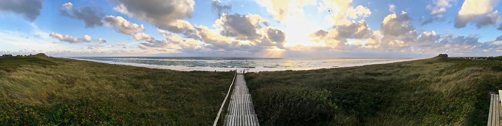Sylt, Germany. Rantum. Sunset at the beach.