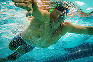 2016/06/04 &ndash; Bogotá, Colombia: Moises Fuentes Garcia, 41, swims during a training session at the Simon Bolivar Aquatic Complex, Bogotá, 4th June, 2016. <br />  -<br /> Moises used to be a farmer and sell cattle with his brother when in October 1992, Paramilitaries in the region of Santa Marta targeted them. Moises was shot six times, and his brother killed. He was &ldquo;lucky&rdquo; to survive, one of the bullets crossed his neck, and one stuck into his spine and he couldn&rsquo;t walk again. However it did not end there, a few months later, during a rehabilitation session he broke his leg and due to an infection he had to amputate it. Moises felt it wasn&rsquo;t worth living anymore. But after meeting a group of other victims that had even more severe injures, he grabbed life with will and began to feel motivated. He started playing wheelchair basketball and studying. In the process of the rehabilitation he was spotted as a good swimmer, even if he didn&rsquo;t possess any technique. After some success on the swimming pool, he became completely dedicated to the sport, while finishing degrees as a tailor, public accountant and hopes to graduate as a sport teacher next year. <br /> Among many achievements he won the Bronze medal in 2008 Paralympic Games in Beijing and Silver medal on the 2012 Paralympic Games in London on the 100 meters breaststroke category. He also became the World Champion at the 2013 World Swimming Championships. Moises hopes that in the Rio 2016 Paralympics, he will bring gold home. <br /> He believes that people must value their life, what they have and help people on the way. &ldquo;Everyone is a champion, but some people don&rsquo;t do the necessary to really became one&rdquo; he says. (Eduardo Leal)