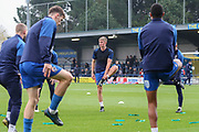 AFC Wimbledon Jack Madelin (31) warming up during the EFL Sky Bet League 1 match between AFC Wimbledon and Gillingham at the Cherry Red Records Stadium, Kingston, England on 23 November 2019.