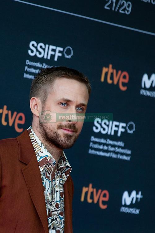 September 24, 2018 - San Sebastian, Spain - Ryan Gosling attends the 'First Man' Red Carpet during the 66th San Sebastian International Film Festival on September 24, 2018 in San Sebastian, Spain. (Credit Image: © Manuel Romano/NurPhoto/ZUMA Press)