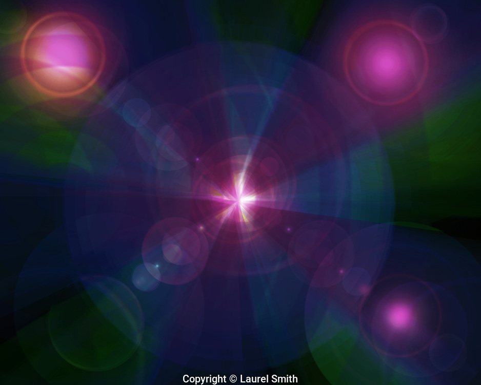 Healing Power #43 ~ Healing power as it flows through the Cosmos. ~ © Laurel Smith