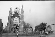 Fire at St Michael's Church, Dun Laoghaire, Co. Dublin.28/07/1965