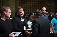 Legatuddeling. Aalborg Haandv&aelig;rkerforening, de lokale laug og mesterforeninger, Tech College Aalborg og Aalborg Kommune.<br /> Foto: &copy; Michael Bo Rasmussen / Baghuset. Dato: 06.05.14