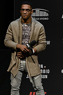 """GLASGOW, UNITED KINGDOM, JULY 15, 2017: Mixed martial arts lightweight division athlete Kevin Lee is pictured on stage during a fan Q&A session ahead of """"UFC Fight Night Glasgow: Nelson vs. Ponzinibbio"""" inside the SSE Hydro Arena in Glasgow"""