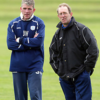 St Johnstone's new manager John Connolly pictured during training with Jim Weir.<br />see story by Gordon Bannerman Tel: 01738 553978 or 07729 865788<br />Picture by Graeme Hart.<br />Copyright Perthshire Picture Agency<br />Tel: 01738 623350  Mobile: 07990 594431