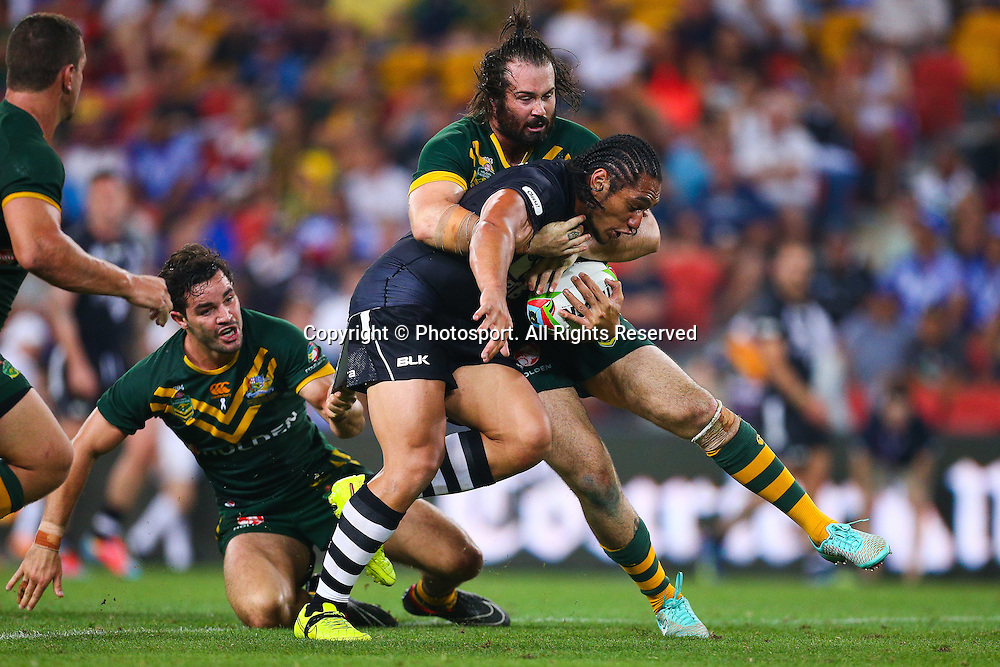 Martin Taupau during the Four Nations test match between Australia and New Zealand at Suncorp Stadium,  Brisbane Australia on October 25, 2014.