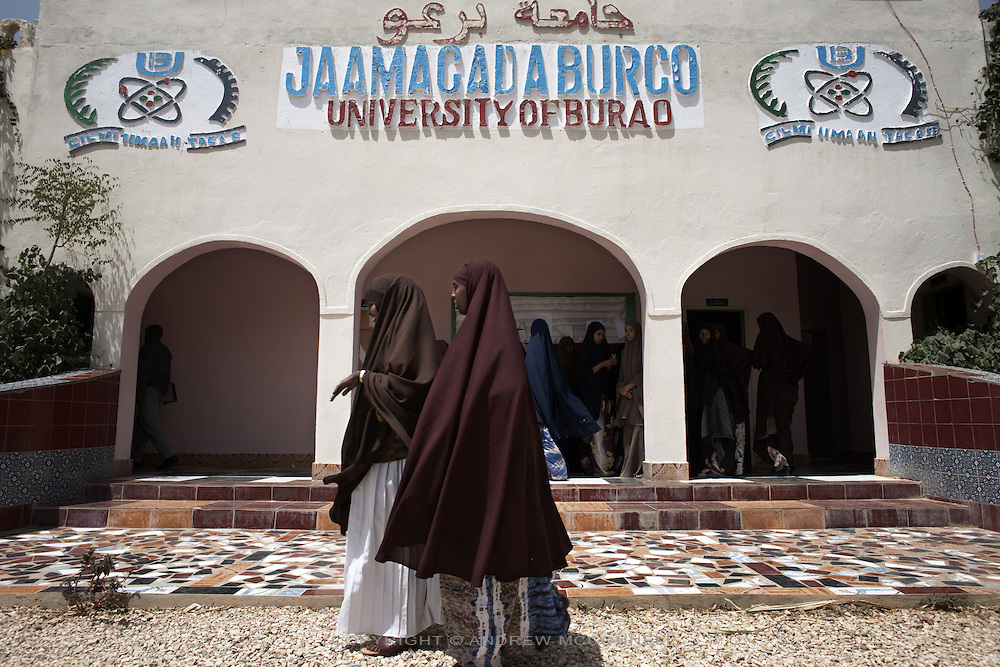 Students outside the Univeristy of Burao, Somaliland, on Wednesday, July 25, 2007. The univeristy opened in 2004 with one classroom and has grown to become the 2nd biggest university in the country..