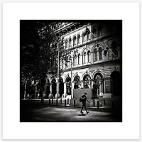 Martin Place, Sydney CBD. From the Ephemeral Sydney street series.<br /> <br /> Instagram: @GirtBySeaMono
