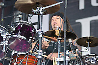 Saliva perform at Pointfest 26 at Verizon Wireless Amphitheater in St. Louis on June 6, 2010
