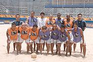 Football-FIFA Beach SoccerWorld Cup 2006- Group A- BRA-Official training in Rio's Arena. The Brazilian team poses. Rio de Janeiro. Brazil- 01/11/2006.<br />Mandatory credit-FIFA/ Marco Antonio Rezende.