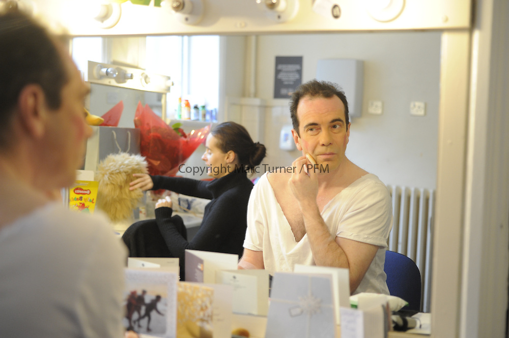 Snow White at The Kings - Photo Essay<br /> Dressing Rooms<br /> <br /> Gavin Mitchell gets prepared to take on the role on Muddles