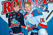 KELOWNA, CANADA - MARCH 03: Pepsi Player of the game with Michael Farren #16 of the Kelowna Rockets at the Kelowna Rockets game on March 03, 2019 at Prospera Place in Kelowna, British Columbia, Canada. (Photo By Cindy Rogers/Nyasa Photography, *** Local Caption ***