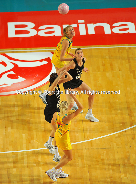 Erin Bell (AUS)<br /> 2011 Holden Netball Test Series<br /> Australia vs New Zealand <br />  Sunday 30 October 2011<br /> Hisense Arena/ Melbourne Australia <br /> &copy; Sport the library / Jeff Crow