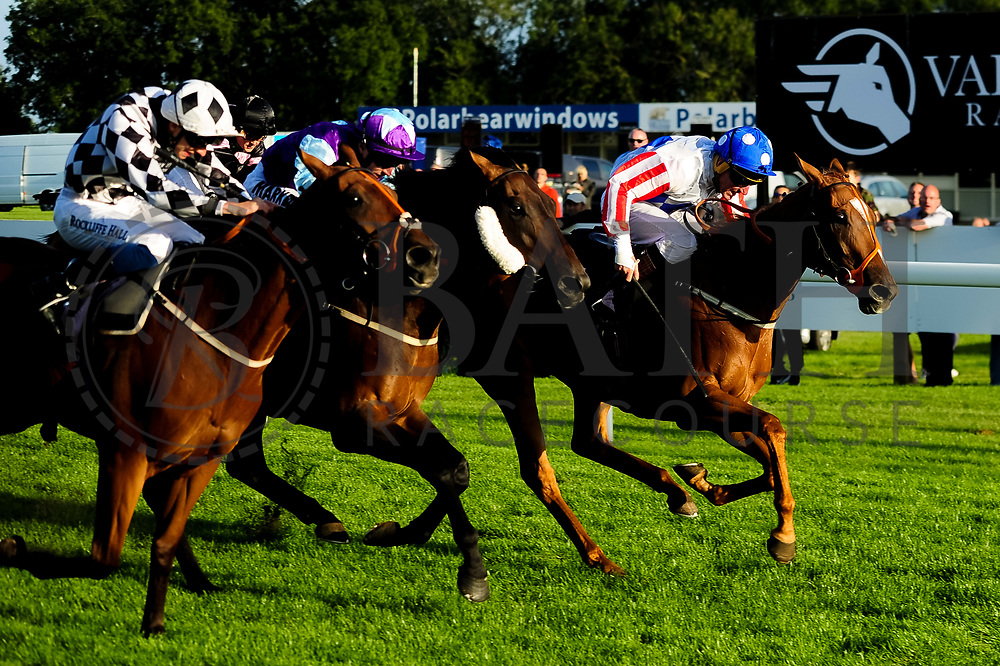Pickett's Charge ridden by Ben Robinson and trained by Brian Ellison in the Samworth Brothers Handicap (Class 4) race. Tukhoom ridden by Tom Marquand and trained by David O'Meara in the Samworth Brothers Handicap (Class 4) race. Secret Return  ridden by J F Egan and trained by Paul George in the Samworth Brothers Handicap (Class 4) race.  - Ryan Hiscott/JMP - 17/08/2019 - PR - Bath Racecourse - Bath, England - Race Meeting at Bath Racecourse