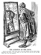 """The Question of The Hour. John Bull (to himself). """"Tell you what it is, my friend - you've been doing yourself too well. If you mean to win this war you've got to see what you can do without."""""""