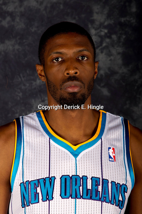 October 1, 2012; Westwego, LA, USA; New Orleans Hornets power forward Hakim Warrick (1) poses for a portrait during Media Day at the Alario Center. Mandatory Credit: Derick E. Hingle-US PRESSWIRE