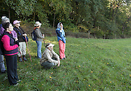 Salisbury Mills, New York - Naturalist Bob Kakerbeck of West Point's Natural Resources Branch and other members of a group look at the view from a field on Clove Brook Farm at the base of Schunnemunk Mountain on Oct. 2, 2010. The outing was organized by the Hudson Highlands Nature Museum.