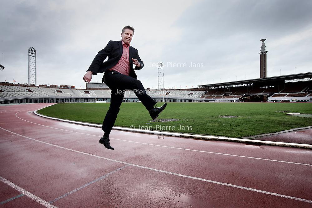 Nederland, Amsterdam , 8 januari 2014. <br /> Henk Stokhof, hoofd Sportzaken Gemeente Amsterdam hier gefotografeerd in het Olympisch Stadion.<br /> Foto:Jean-Pierre Jans