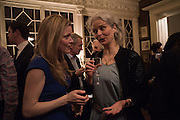 HERMIONE EYRE; ANNA WEBBER, The Walter Scott Prize for Historical Fiction 2015 - The Duke of Buccleuch hosts party to for the shortlist announcement. <br /> The winner is announced at the Borders Book Festival in Scotland in June.John Murray's Historic Rooms, 50 Albemarle Street, London, 24 March 2015.