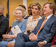 The Hague, 18-05-2017 <br /> <br /> King Willem-Alexander handed over the Apples of Orange. Queen Maxima and Princess Beatrix also the ceremony at Noordeinde Palace.<br /> <br /> COPYRIGHT: ROYALPORTRAITS EUROPE/ BERNARD RUEBSAMEN