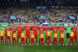 Team Russia before the UEFA EURO 2008 Group D soccer match between Sweden and Russia at Stadion Tivoli NEU, on June 18,2008, in Innsbruck, Austria. Russia won 2:0. (Photo by Vid Ponikvar / Sportal Images)