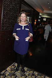 JOANNA PAGE at a party to celebrate the publication of Zita West's book - Your Pregnancy Consultant held at China Tang, Park Lane, London on 6th December 2012.