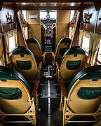 December 16, 2016<br /> Interior of a 1928 Ford Tri-Motor airplane, parked at the Pine Mountain Lake Airport in Groveland, California, on Friday, December 16, 2016.<br /> <br /> This Ford Tri-Motor NC9645, nicknamed The Tin Goose, has a wingspan of 77 feet 6 inches and was constructed in 1928. It was named the City of Wichita, and it was used to introduce the first coast-to-coast passenger air/rail service in the United States on July 7, 1929, and the development and inauguration of the first all air passenger service on October 25, 1930. The plane can carry up to 10 passengers.<br /> <br /> Experimental Aircraft Association (EAA) is a worldwide organization of aviation enthusiasts. EAA&rsquo;s 185,000 members and 1,000 local chapters enjoy sharing their passion for flying, building and restoring aircraft. Pine Mountain Lake&rsquo;s EAA Chapter 1337 is hosting the airline&rsquo;s visit.