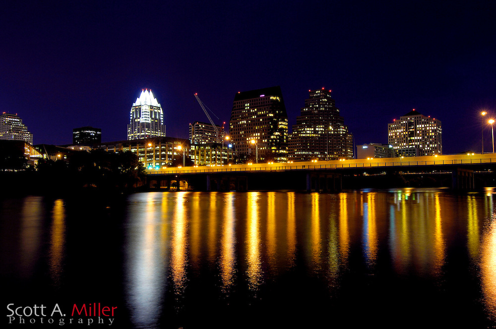 September 5, 2007, Austin; The skyline with the Colorado River in Austin, Texas.....©2007 Scott A. Miller